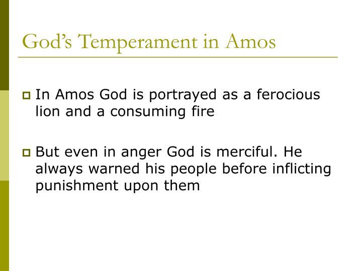 God's Temperament in Amos