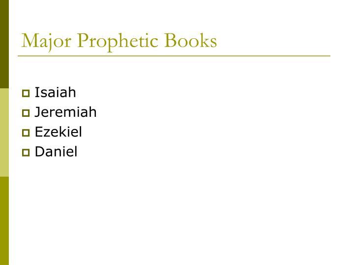 Major Prophetic Books