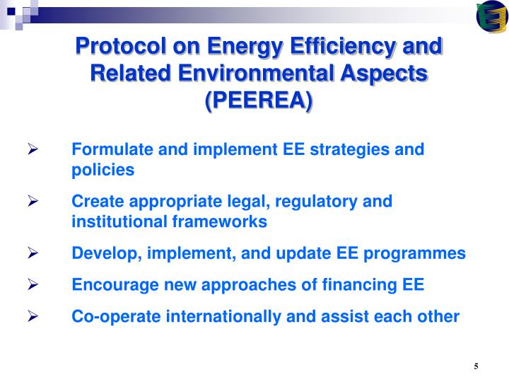Protocol on Energy Efficiency and Related Environmental Aspects (PEEREA)
