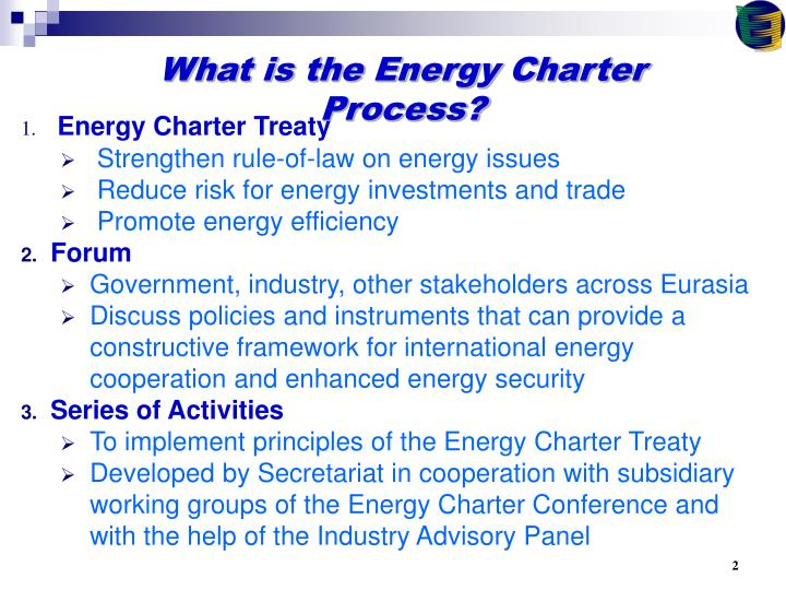 What is the Energy Charter Process?