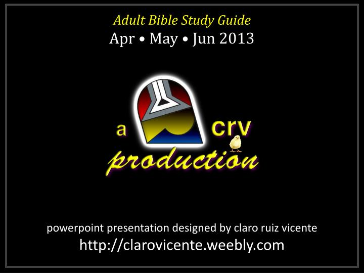 Adult Bible Study Guide