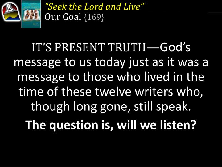 """""""Seek the Lord and Live"""""""