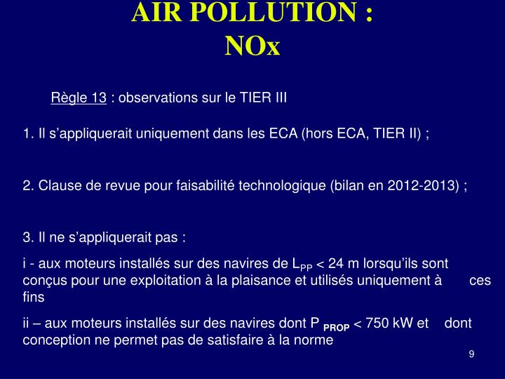 AIR POLLUTION :