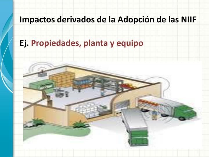 Impactos derivados de la Adopción de las NIIF