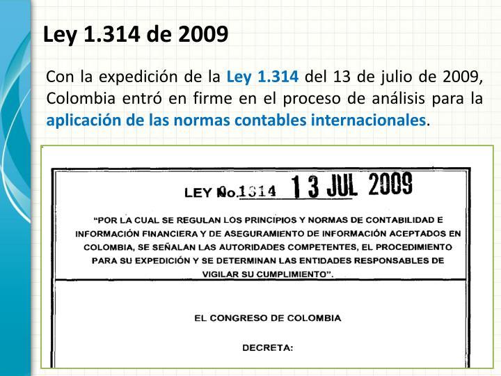 Ley 1.314 de 2009