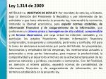 ley 1 314 de 20092