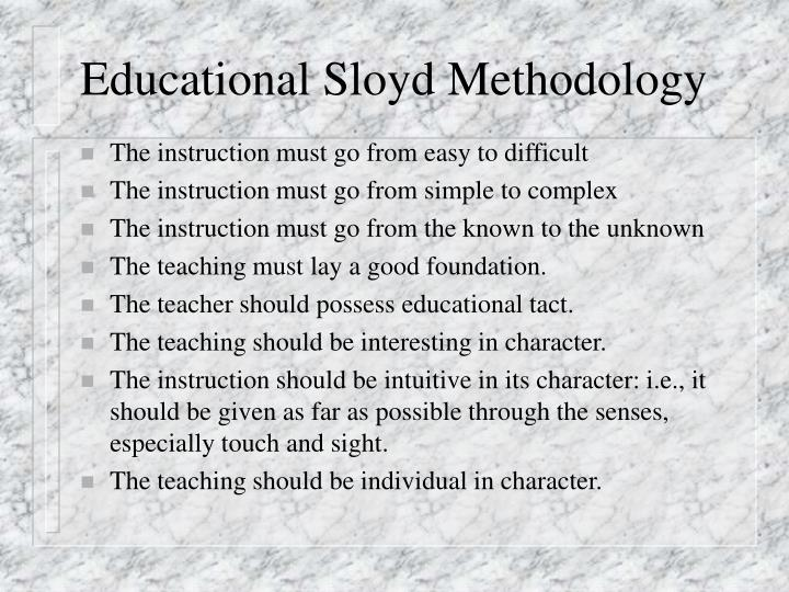 Educational Sloyd Methodology