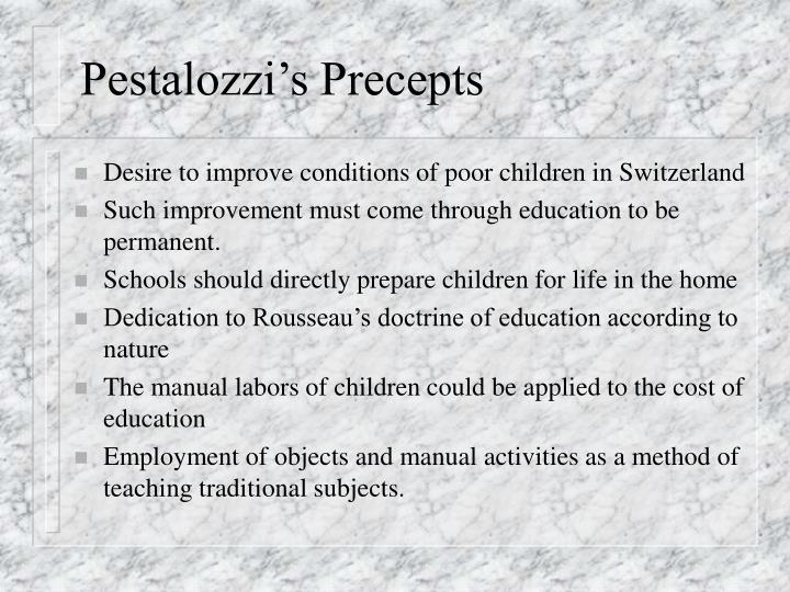 Pestalozzi's Precepts