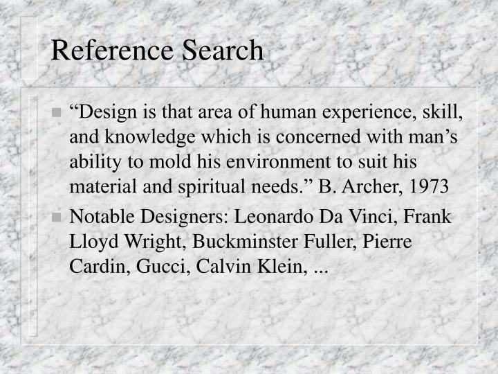 Reference Search