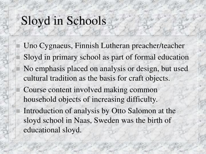 Sloyd in Schools