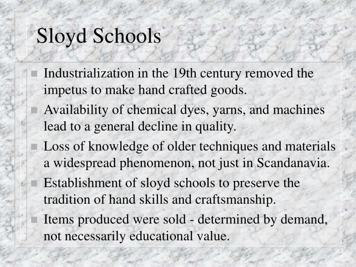 Sloyd Schools