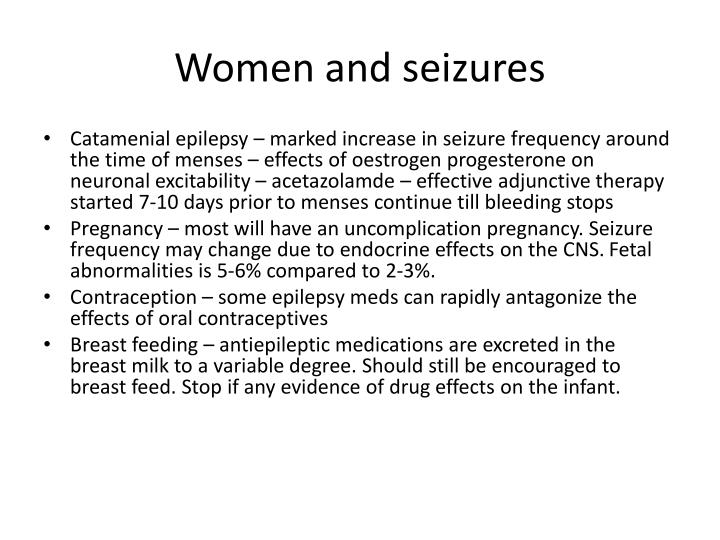 Women and seizures