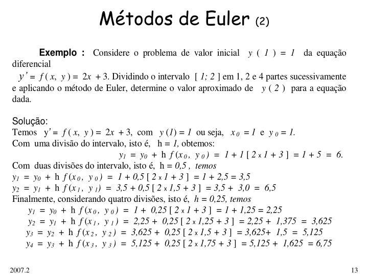 Métodos de Euler