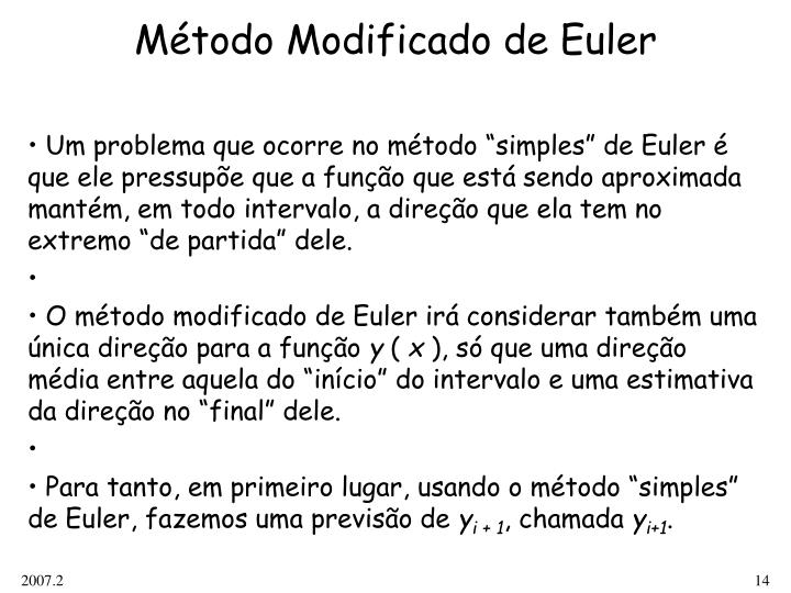 Método Modificado de Euler