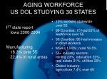 aging workforce us dol studying 30 states