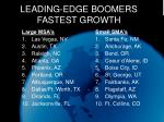 leading edge boomers fastest growth