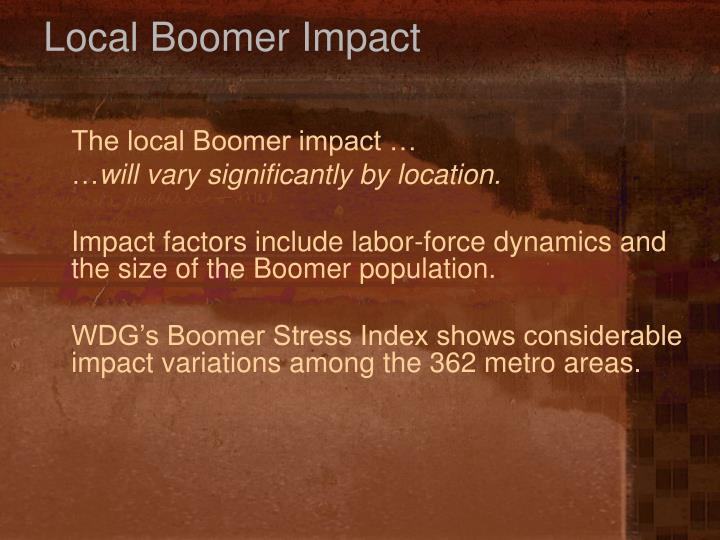 Local Boomer Impact