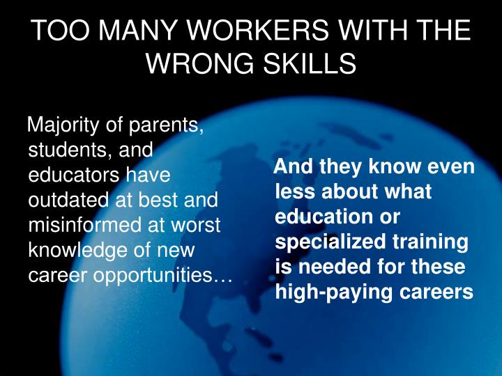 Majority of parents, students, and educators have outdated at best and misinformed at worst knowledge of new career opportunities…