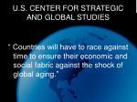 u s center for strategic and global studies
