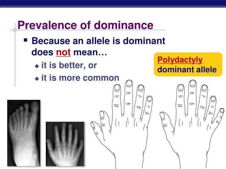Prevalence of dominance