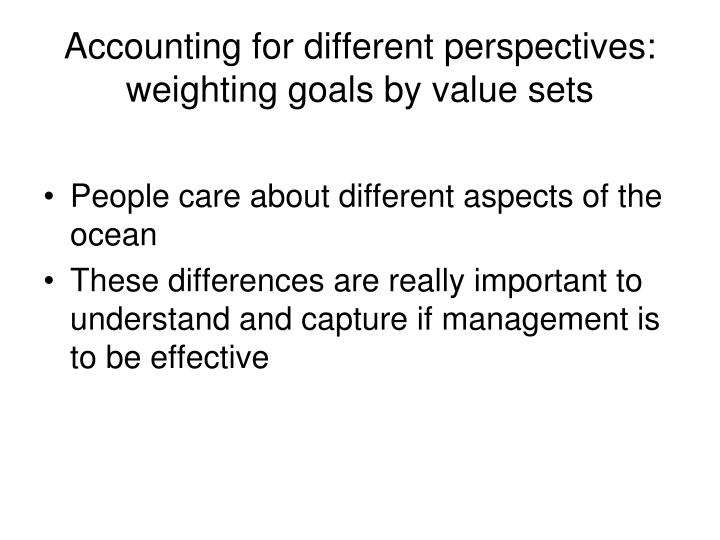 Accounting for different perspectives: