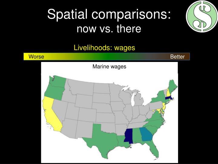 Spatial comparisons: