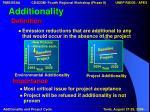 additionality