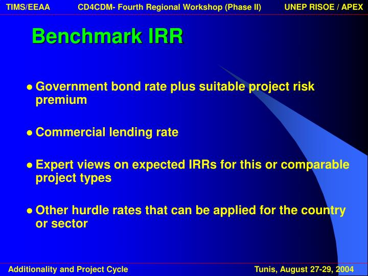 Benchmark IRR