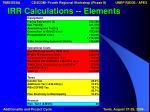 irr calculations elements1