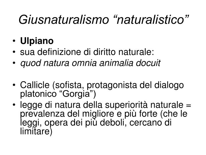 "Giusnaturalismo ""naturalistico"""