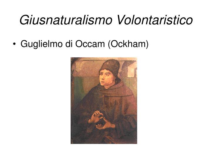 Giusnaturalismo Volontaristico