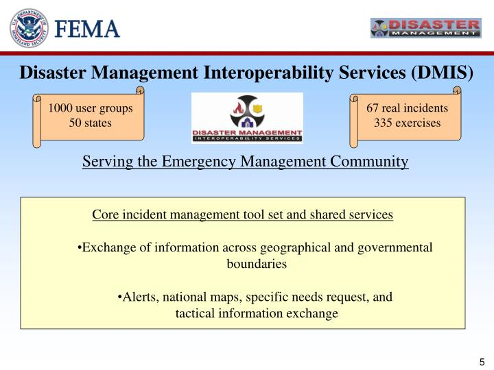 Disaster Management Interoperability Services (DMIS)