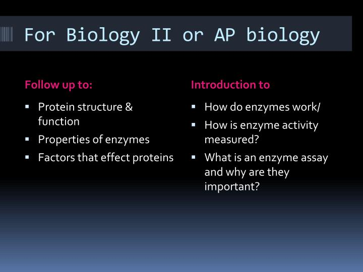 For biology ii or ap biology