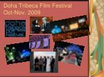 doha tribeca film festival oct nov 2009
