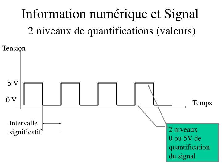 Information numérique et Signal