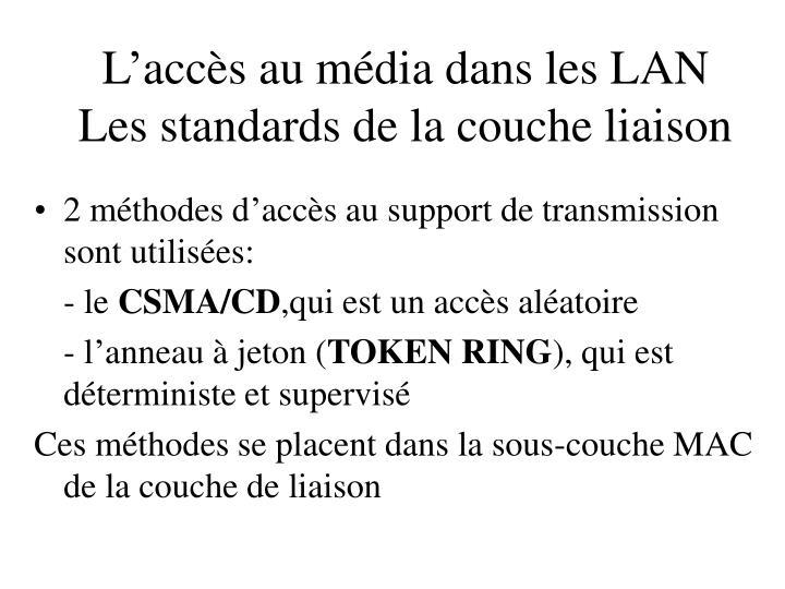 L'accès au média dans les LAN