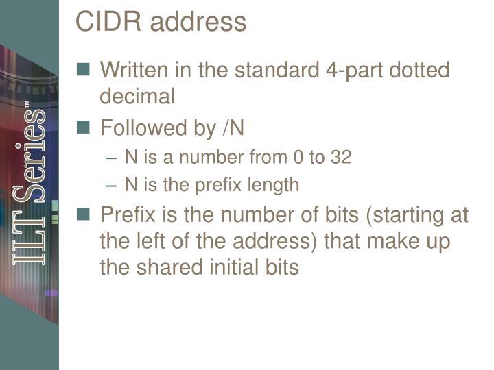 CIDR address