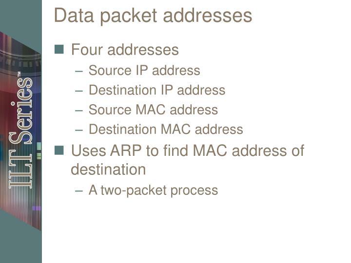 Data packet addresses