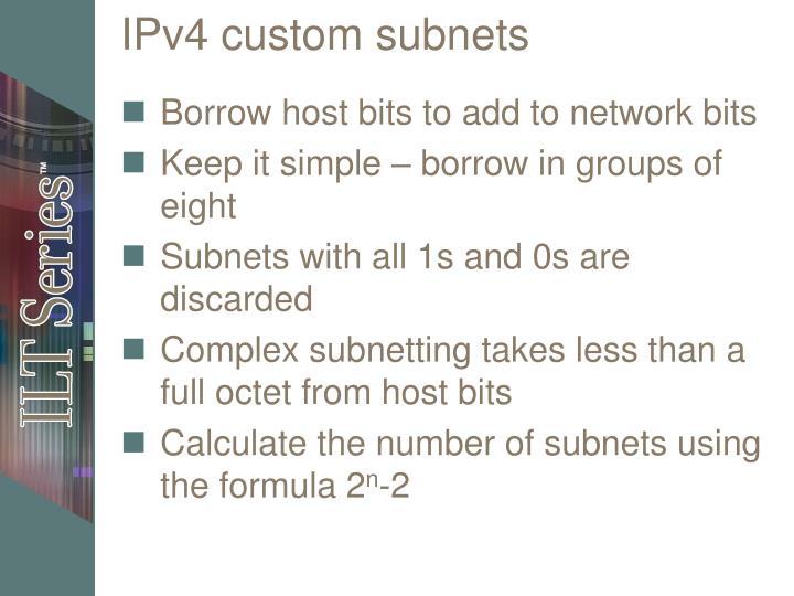 IPv4 custom subnets