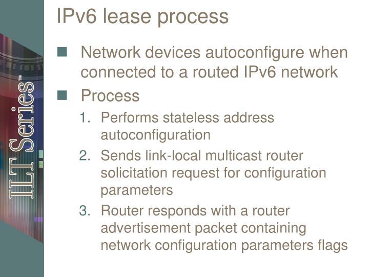 IPv6 lease process