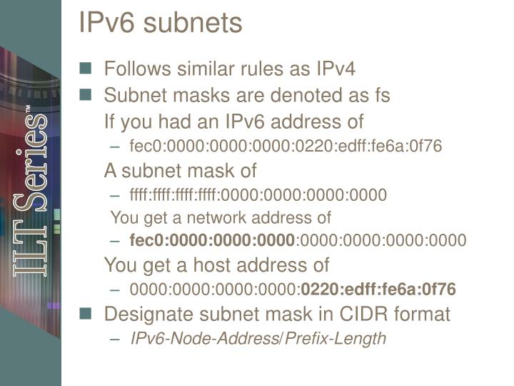 IPv6 subnets