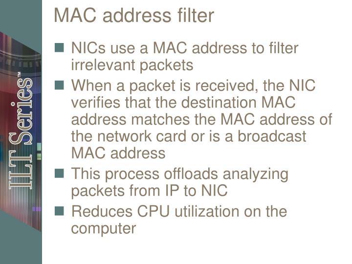 MAC address filter