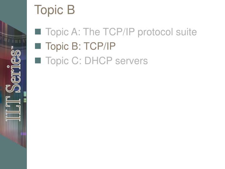 Topic B