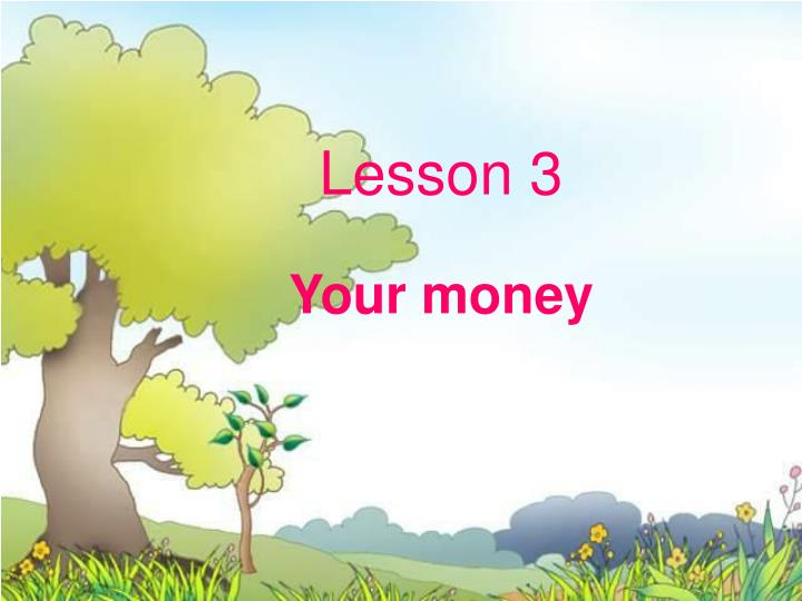 Lesson 3 your money