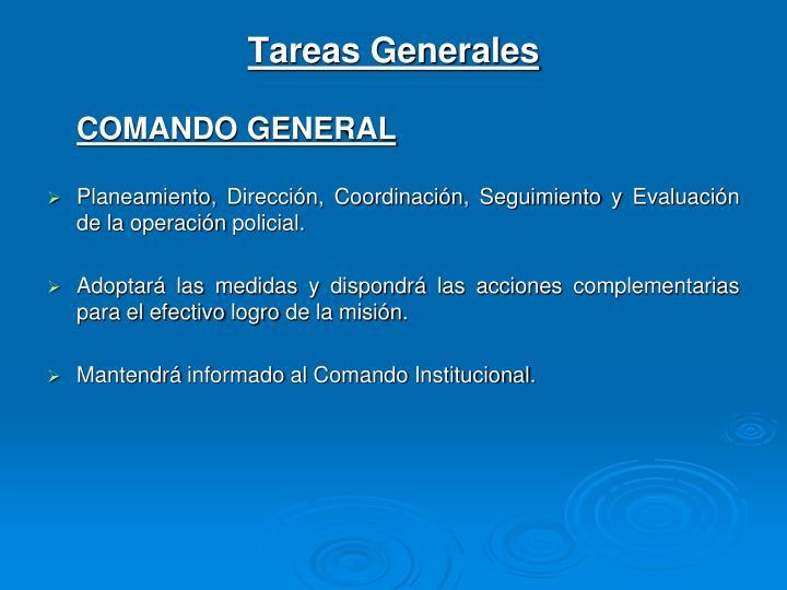 Tareas Generales