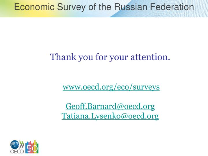 Economic Survey of the Russian Federation