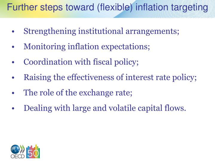 Further steps toward (flexible) inflation targeting