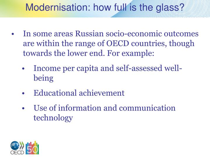 Modernisation: how full is the glass?