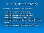 tipus d hiperactivitat