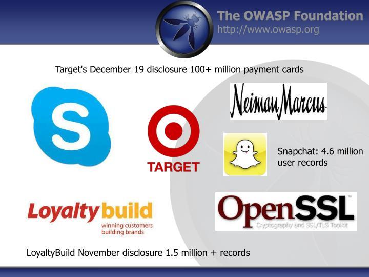 Target's December 19 disclosure